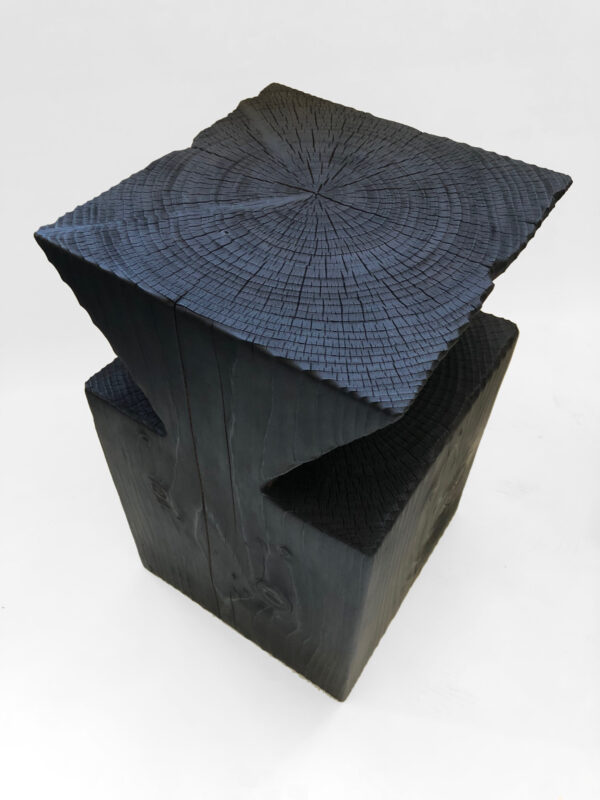 Functional Sculpture. Solid Wood and Yakisugi