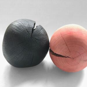 Sculpture wood Yakisugi