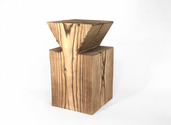 Functional sculpture-stool-table