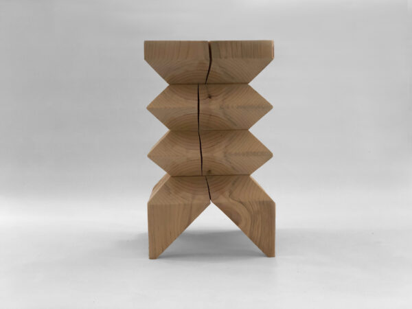 Wooden table and stool